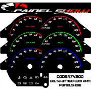 Celta até 2006 Cod547v200  Mostrador Tuning Acetato Translucido p/ Personalização de Painel - Show !