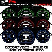 Kit Translúcido p/ Painel - Cod647v220 - Palio Antigo com Contagiros