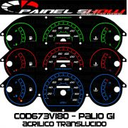 Kit Translúcido p/ Painel - Cod673v180 - Palio Siena Strada Antigo G1