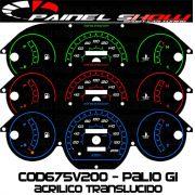 Kit Translúcido p/ Painel - Cod675v200 - Palio Siena Strada Antigo G1