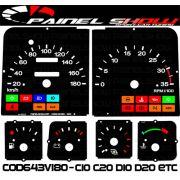 Kit Translúcido p/ Painel - Cod643v180 - C10 C20 D10 D20 Turbo
