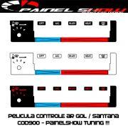 Cod900 - Pelicula do Controle de Ar Ventilação - Gol Parati Saveiro Santana Voyage Painel Show - Acetato Translucido Painelshow
