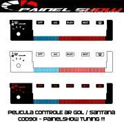 Cod901 - Pelicula do Controle de Ar Ventilação - Gol Parati Saveiro Santana Voyage Painel Show - Acetato Translucido Painelshow