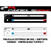 Cod902 - Pelicula do Controle de Ar Ventilação - Gol Parati Saveiro Santana Voyage Painel Show - Acetato Translucido Painelshow
