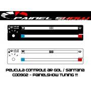 Cod903 - Pelicula do Controle de Ar Ventilação - Gol Parati Saveiro Santana Voyage Painel Show - Acetato Translucido Painelshow