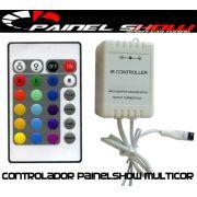 Controlador de Cores para Painel Show Translucido Multicor rgb com Controle Remoto