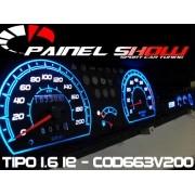 Kit Acrilico Translucido p/ Painel - Cod663v200 - Tipo 1.6 IE + Leds + Tinta de Ponteiros - Painelshow