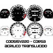 Kit Translúcido p/ Painel - Cod515v220 - Corsa com Contagiros
