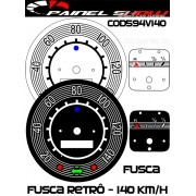 Kit Translúcido p/ Painel - Cod594v140 - Fusca até 140km/h Antigo Retrô