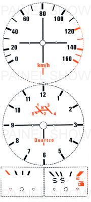 Adesivo p/ Painel - Cod08v160 - Brasilia 80 a 82  - PAINEL SHOW TUNING - Personalização de Painéis de Carros e Motos