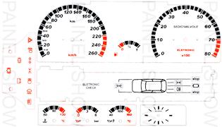 Adesivo p/ Painel - Cod124v260 - Tipo 2.0 16V  - PAINEL SHOW TUNING - Personalização de Painéis de Carros e Motos