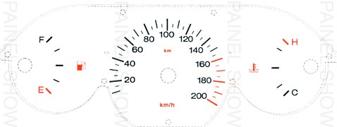 Adesivo p/ Painel - Cod101v200 - Palio / Siena / Strada G1  - PAINEL SHOW TUNING - Personalização de Painéis de Carros e Motos