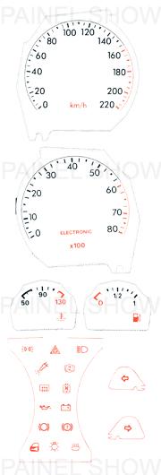 Adesivo p/ Painel - Cod105v220 - Tempra  - PAINEL SHOW TUNING - Personalização de Painéis de Carros e Motos