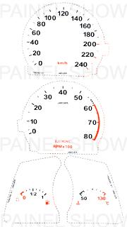 Adesivo p/ Painel - Cod108v240 - Tempra  - PAINEL SHOW TUNING - Personalização de Painéis de Carros e Motos