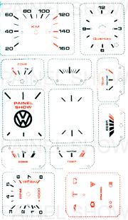 Adesivo p/ Painel - Cod12v160 - Gol até 1987  - PAINEL SHOW TUNING - Personalização de Painéis de Carros e Motos