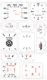 Adesivo p/ Painel - Cod13v190 - Gol / Parati  - PAINEL SHOW TUNING - Personalização de Painéis de Carros e Motos