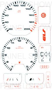 Adesivo p/ Painel - Cod18v200 - Santana / Quantum  - PAINEL SHOW TUNING - Personalização de Painéis de Carros e Motos