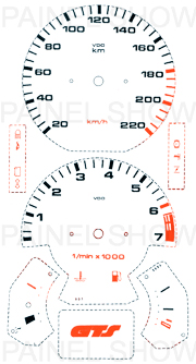Adesivo p/ Painel - Cod20v220 - Gol GTS / Parati  - PAINEL SHOW TUNING - Personalização de Painéis de Carros e Motos