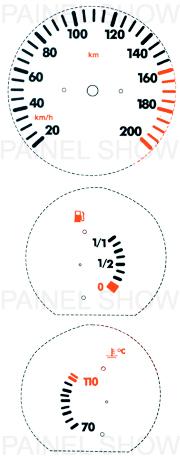 Adesivo p/ Painel - Cod23v200 - Gol / Parati  - PAINEL SHOW TUNING - Personalização de Painéis de Carros e Motos