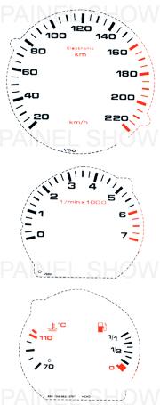Adesivo p/ Painel - Cod24v220 - Gol / Parati  - PAINEL SHOW TUNING - Personalização de Painéis de Carros e Motos