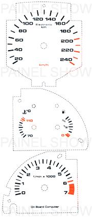 Adesivo p/ Painel - Cod25v240 - Gol GTI  - PAINEL SHOW TUNING - Personalização de Painéis de Carros e Motos