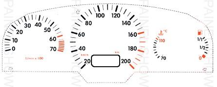 Adesivo p/ Painel - Cod27v200 - Gol / Parati  - PAINEL SHOW TUNING - Personalização de Painéis de Carros e Motos