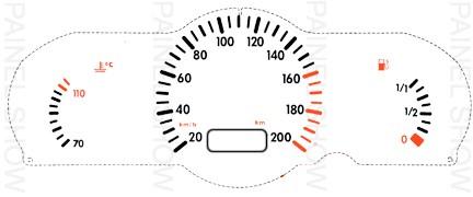 Adesivo p/ Painel - Cod30v200 - Gol / Parati  - PAINEL SHOW TUNING - Personalização de Painéis de Carros e Motos