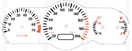 Adesivo p/ Painel - Cod31v200 - Gol / Saveiro  - PAINEL SHOW TUNING - Personalização de Painéis de Carros e Motos