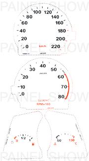 Kit Neon p/ Painel - Cod107v220 - Tempra  - PAINEL SHOW TUNING - Personalização de Painéis de Carros e Motos
