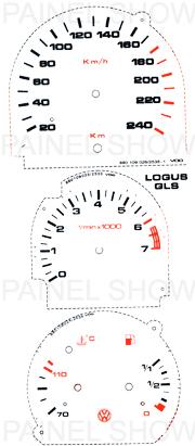 Adesivo p/ Painel - Cod37v240 - Logus / Pointer  - PAINEL SHOW TUNING - Personalização de Painéis de Carros e Motos