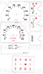 Adesivo p/ Painel - Cod39v180 - Elba / Premio  - PAINEL SHOW TUNING - Personalização de Painéis de Carros e Motos