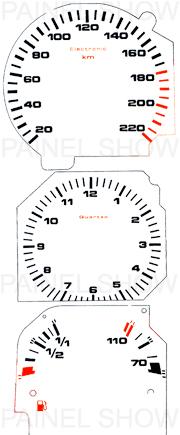 Adesivo p/ Painel - Cod40v220 - Santana / Quantum  - PAINEL SHOW TUNING - Personalização de Painéis de Carros e Motos