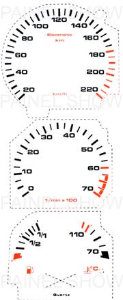 Adesivo p/ Painel - Cod41v220 - Santana / Quantum  - PS TUNING