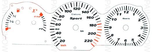 Adesivo p/ Painel - Cod42v220 - Santana / Quantum  - PAINEL SHOW TUNING - Personalização de Painéis de Carros e Motos