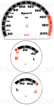 Adesivo p/ Painel - Cod46v200v2 - Corsa  - PAINEL SHOW TUNING - Personalização de Painéis de Carros e Motos