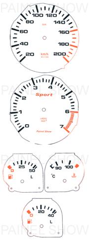 Adesivo p/ Painel - Cod47v200 - Corsa  - PAINEL SHOW TUNING - Personalização de Painéis de Carros e Motos