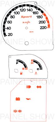 Kit Neon p/ Painel - Cod139v220 - Fiesta Importado  - PS TUNING