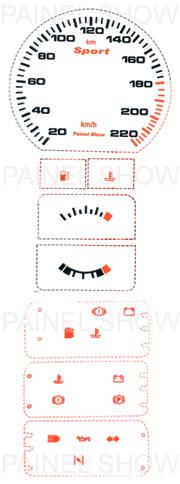 Adesivo p/ Painel - Cod49v220 - Monza / kadett  - PAINEL SHOW TUNING - Personalização de Painéis de Carros e Motos