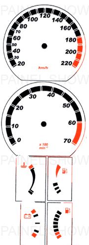 Adesivo p/ Painel - Cod50v220 - Monza  - PAINEL SHOW TUNING - Personalização de Painéis de Carros e Motos