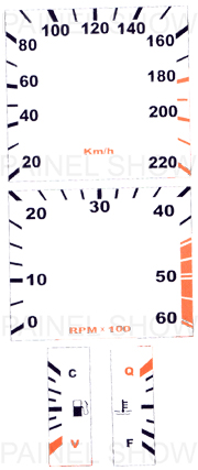 Adesivo p/ Painel - Cod56v220 - Opala / Caravan  - PAINEL SHOW TUNING - Personalização de Painéis de Carros e Motos
