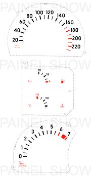 Adesivo p/ Painel - Cod59v220 - Omega / Suprema  - PAINEL SHOW TUNING - Personalização de Painéis de Carros e Motos