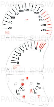 Adesivo p/ Painel - Cod62v240 - Astra / Calibra  - PAINEL SHOW TUNING - Personalização de Painéis de Carros e Motos
