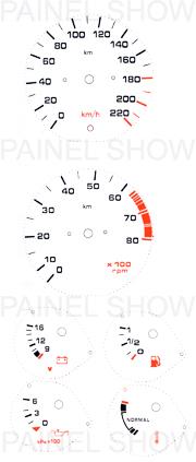 Adesivo p/ Painel - Cod70v220 - Del Rey  - PAINEL SHOW TUNING - Personalização de Painéis de Carros e Motos