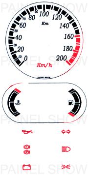 Adesivo p/ Painel - Cod73v200v2 - Escort  - PAINEL SHOW TUNING - Personalização de Painéis de Carros e Motos