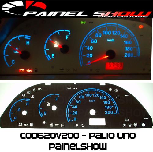 Kit Translúcido p/ Painel - Cod620v200 - Palio - Siena - Strada G1  - PAINEL SHOW TUNING - Personalização de Painéis de Carros e Motos
