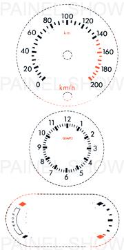 Adesivo p/ Painel - Cod74v200 - Escort / Verona  - PAINEL SHOW TUNING - Personalização de Painéis de Carros e Motos