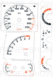 Adesivo p/ Painel - Cod75v220 - Apollo  - PAINEL SHOW TUNING - Personalização de Painéis de Carros e Motos