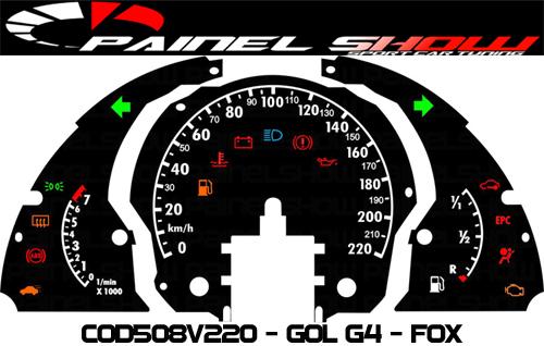 Kit Translúcido p/ Painel - Cod508v220 - Gol Fox G4  - PAINEL SHOW TUNING - Personalização de Painéis de Carros e Motos