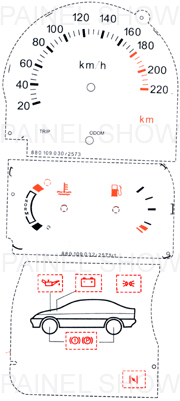 Adesivo p/ Painel - Cod77v220 - Escort  - PS TUNING