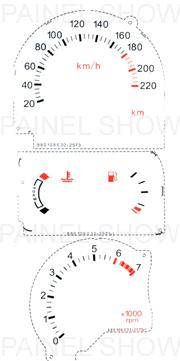 Adesivo p/ Painel - Cod78v220 - Escort  - Loja - Painel Show Tuning